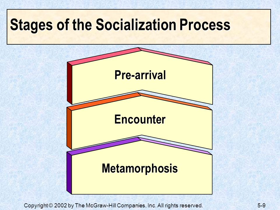Stages of the Socialization Process