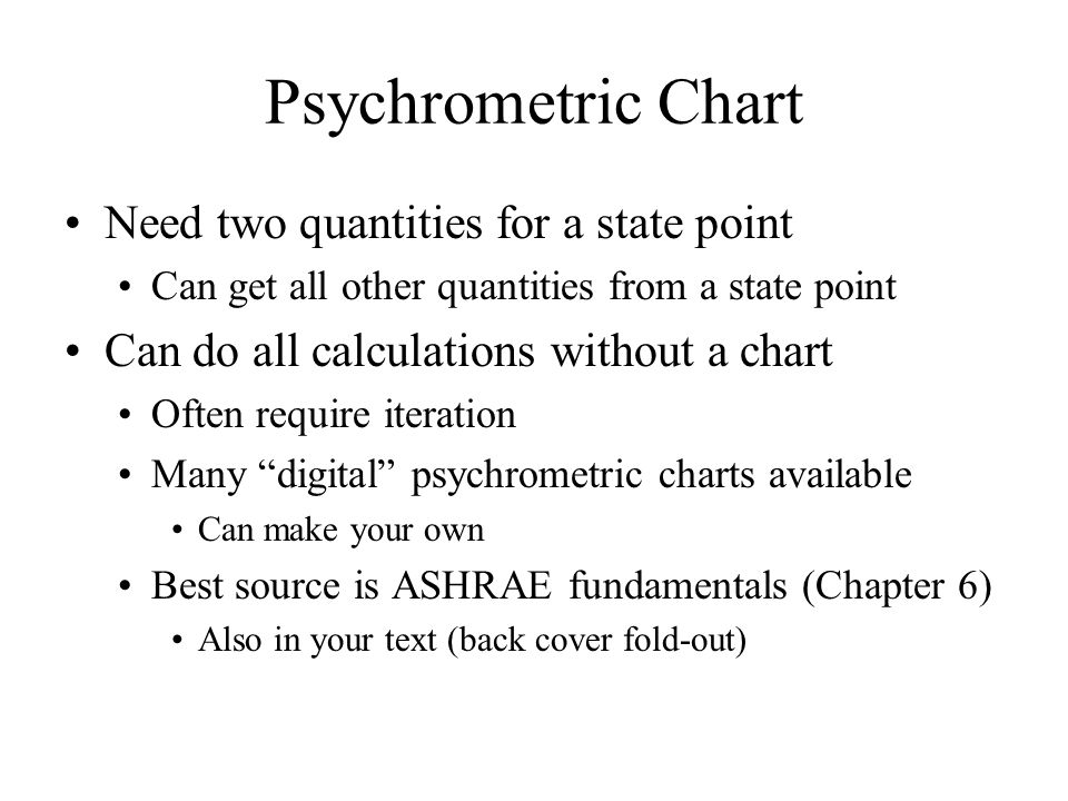 Psychrometric Chart Fundamentals:dehumidification And Reheat. Objectives  Psychometrics Psychometrics Of Ahu.   Ppt Download