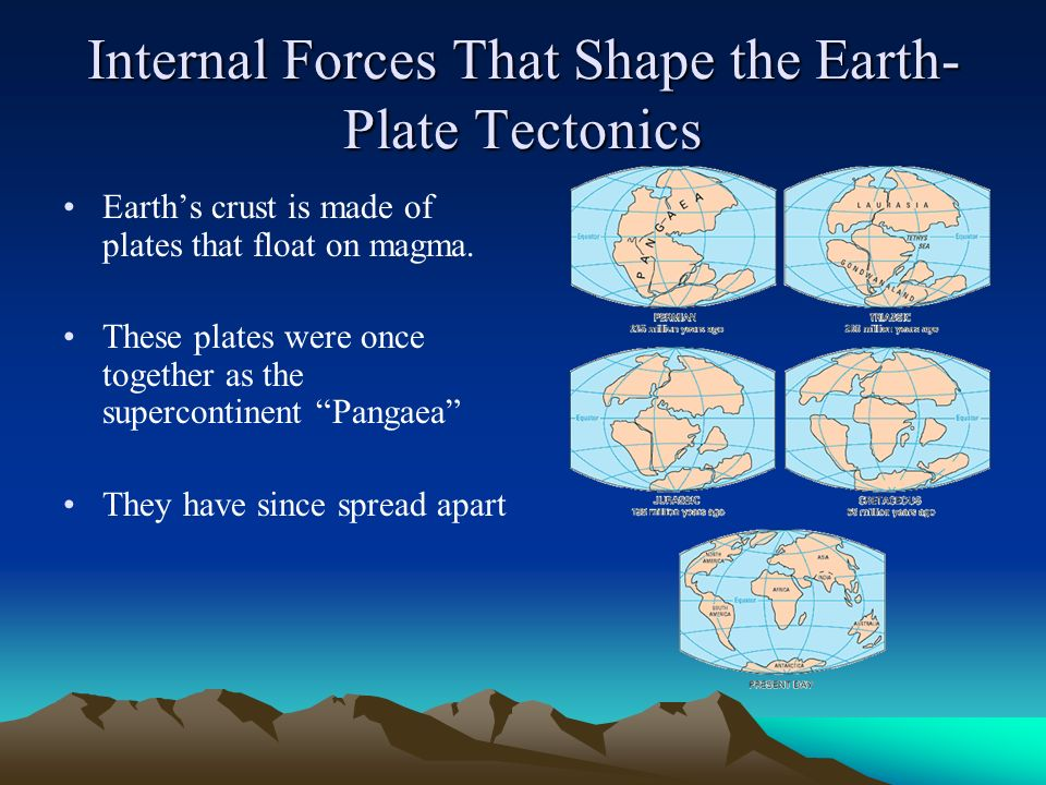 forces that shape the earth ppt download