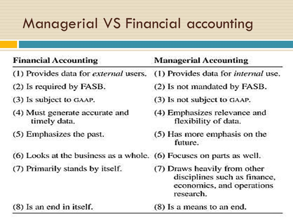 The Differences Between Financial Accounting & Management Accounting