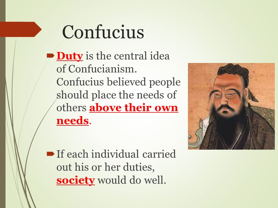 an analysis of the central ideals of confucianism Full-text paper (pdf): the role of confucianism in contemporary south korean society.