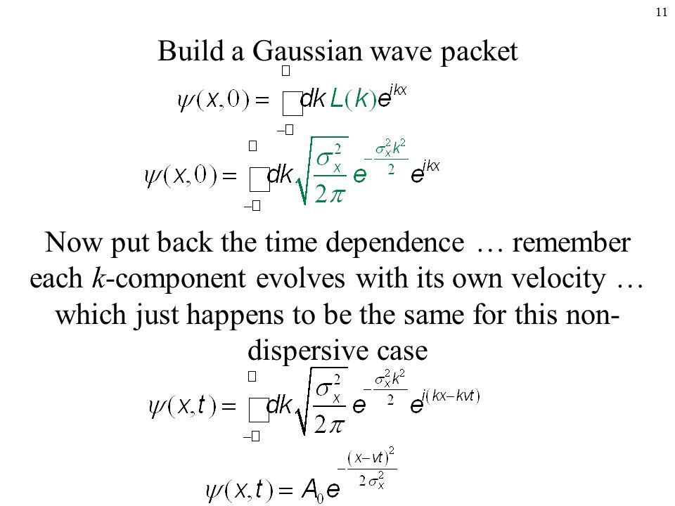 wave packets Motion of a wave packet in the klein paradox h nitta and t kudo department of physics, tokyo gakugei university, koganei, tokyo 184-8501, japan.