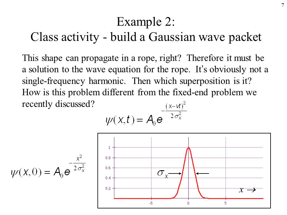 wave packets Tutorial: evolution of free particle wave packets background for all their value, the stationary states of quantum mechanics are anathema to our.