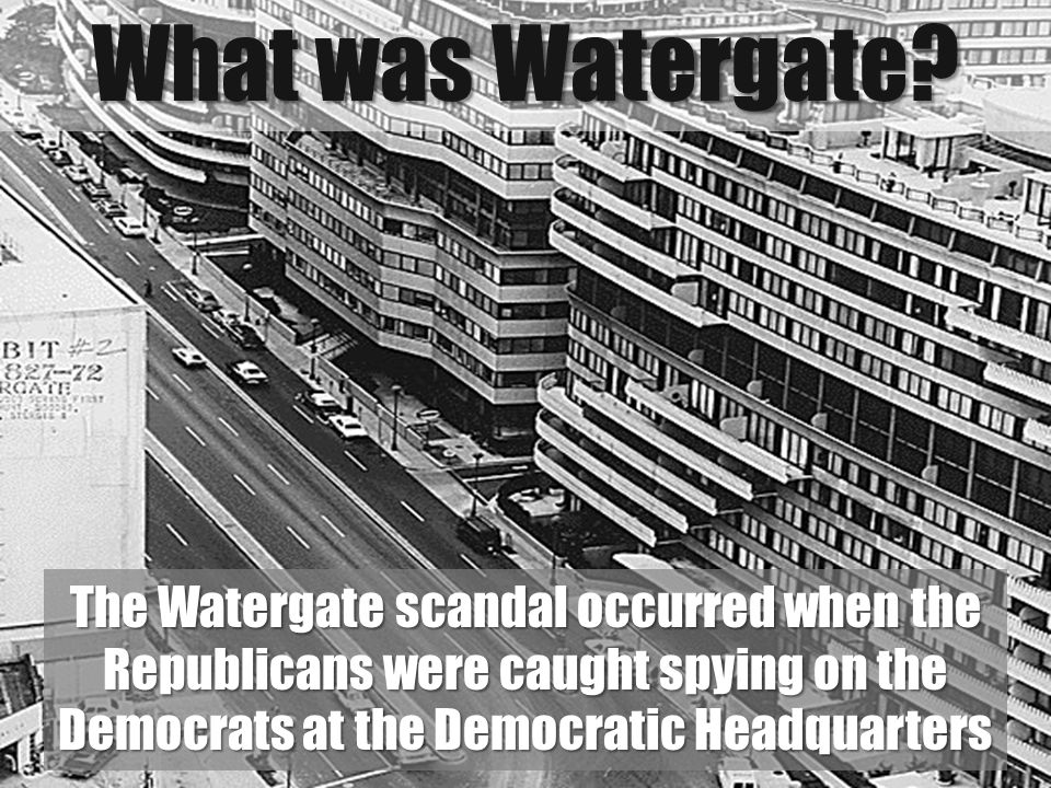a report on the watergate scandal