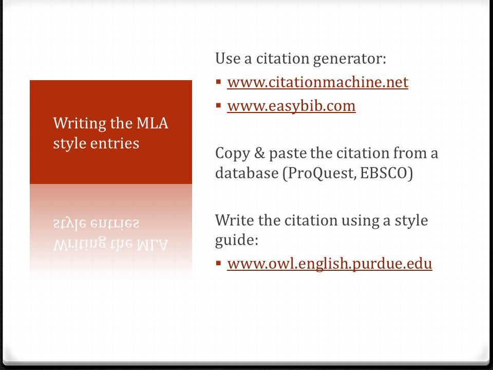 mla citation english essay Knowing the best ways of using the mla essay format in order to make sure that the mla essay citation method uses a two-part system in the english, german.