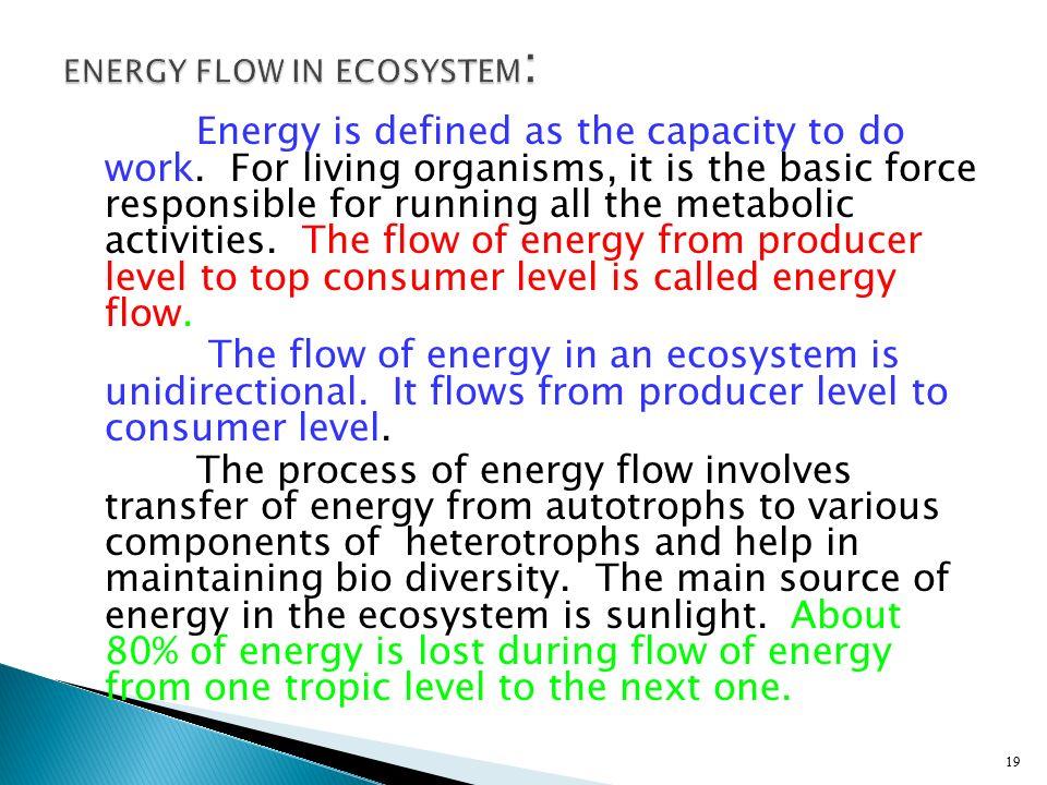 ENERGY FLOW IN ECOSYSTEM: