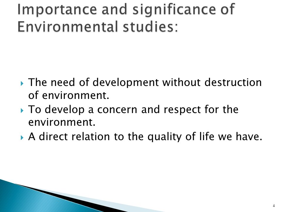 Importance and significance of Environmental studies: