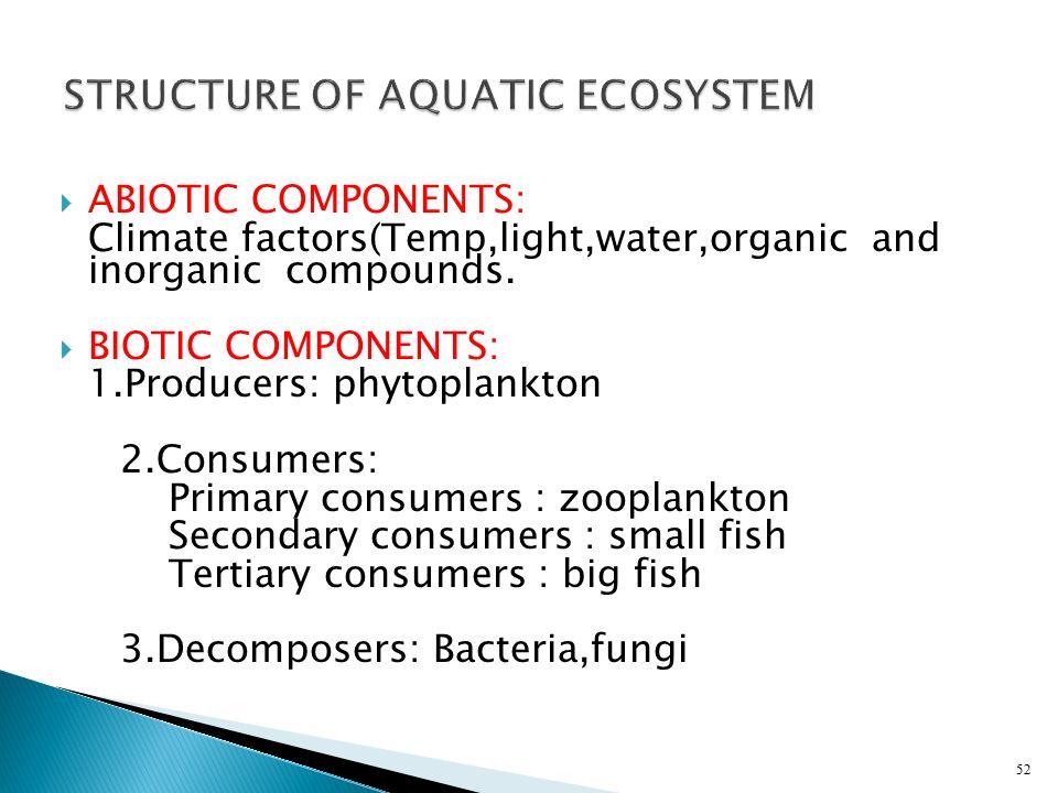 STRUCTURE OF AQUATIC ECOSYSTEM