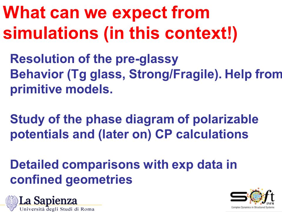 What can we expect from simulations (in this context!)