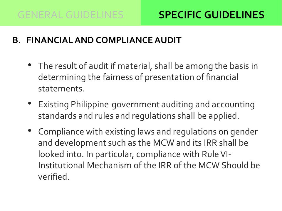 compliance of applicable accounting standards in