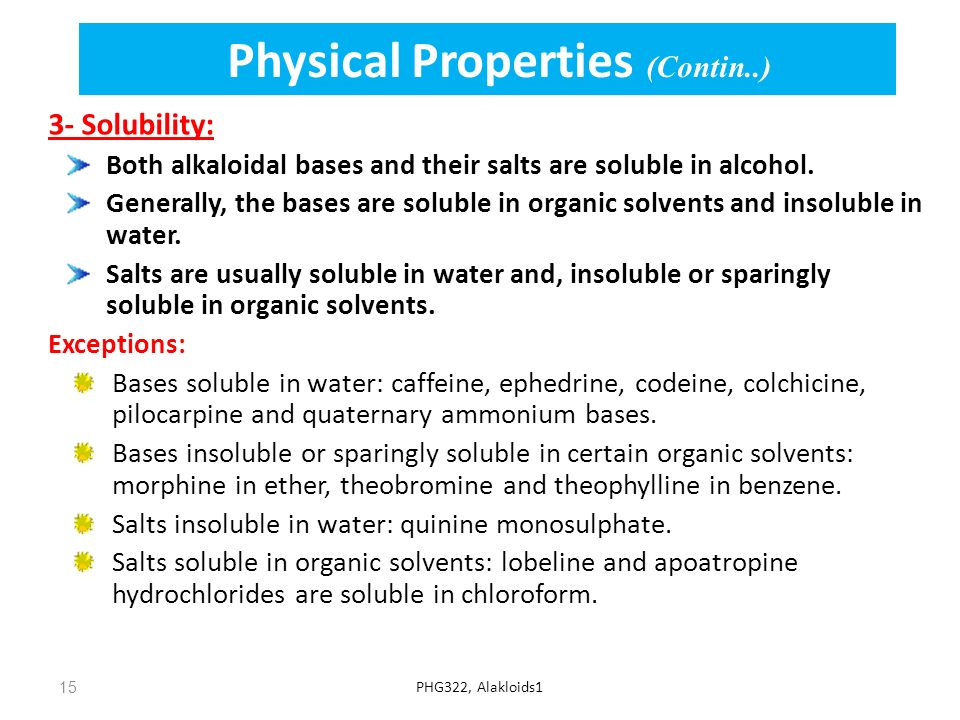 Physical Properties (Contin..)