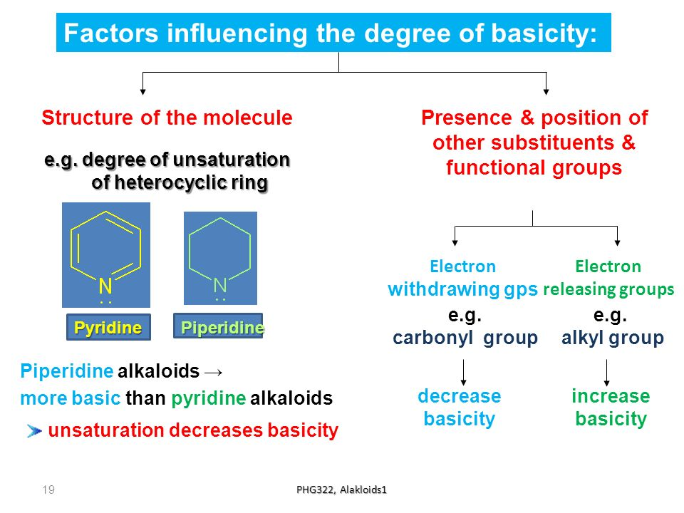 Factors influencing the degree of basicity: