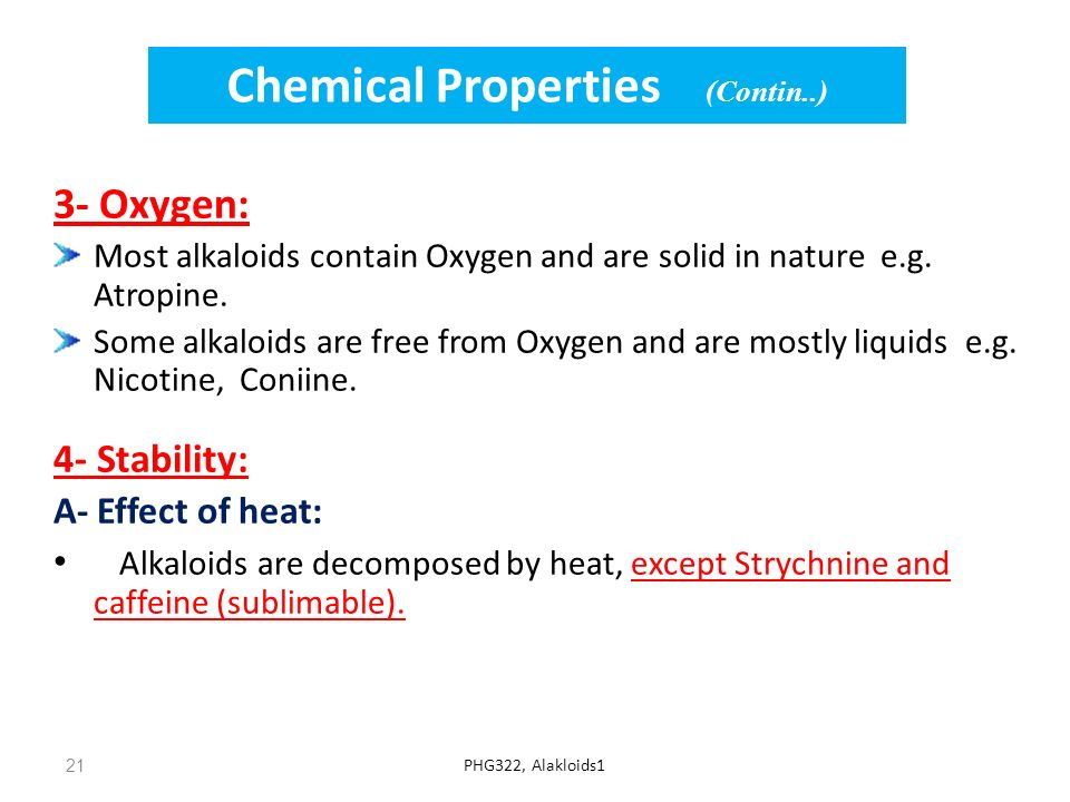 Chemical Properties (Contin..)