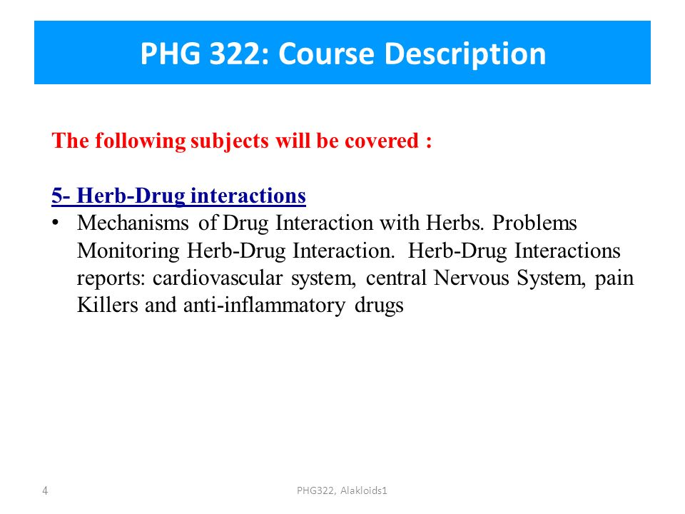 PHG 322: Course Description