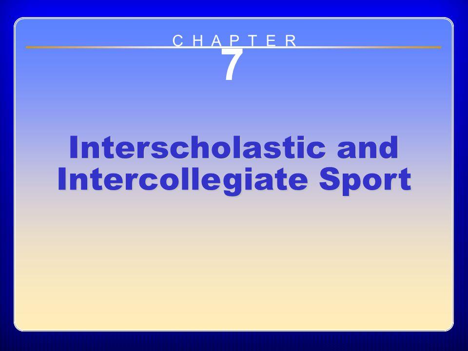 interscholastic intercollegiate sports Increasing participation in athletics title ix has helped girls and women participate in interscholastic and intercollegiate athletics in far greater numbers than.