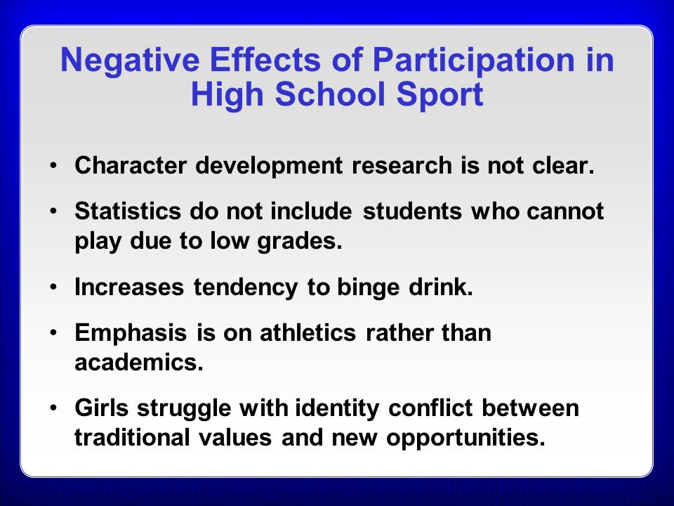 positive and negative impact of sports Sports business a&e life jobs  [negative impact] | the positive & negative impact of digital media on business 4  the positive & negative effects of.