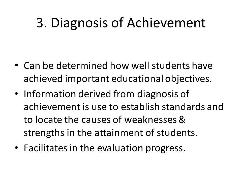 3. Diagnosis of Achievement