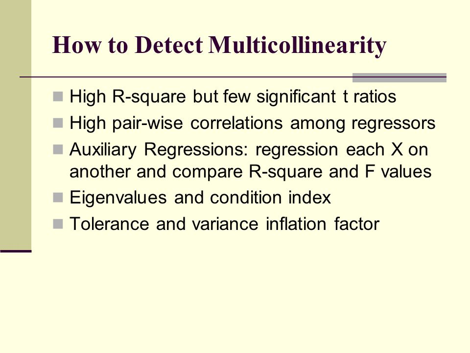 MULTICOLLINEARITY: WHAT HAPPENS IF THE REGRESSORS ARE ...