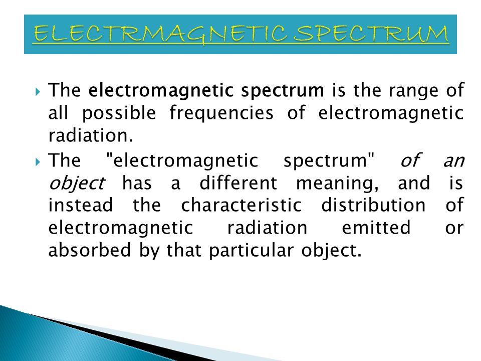 ELECTRMAGNETIC SPECTRUM