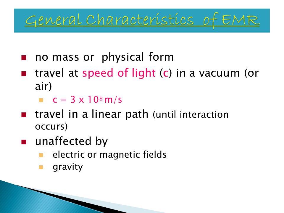 General Characteristics of EMR
