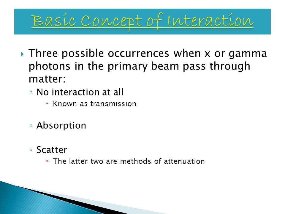 Basic Concept of Interaction