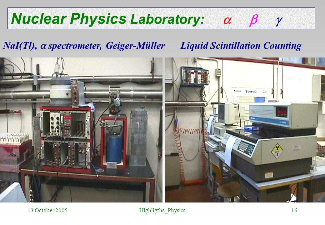 Nuclear Physics Laboratory:   