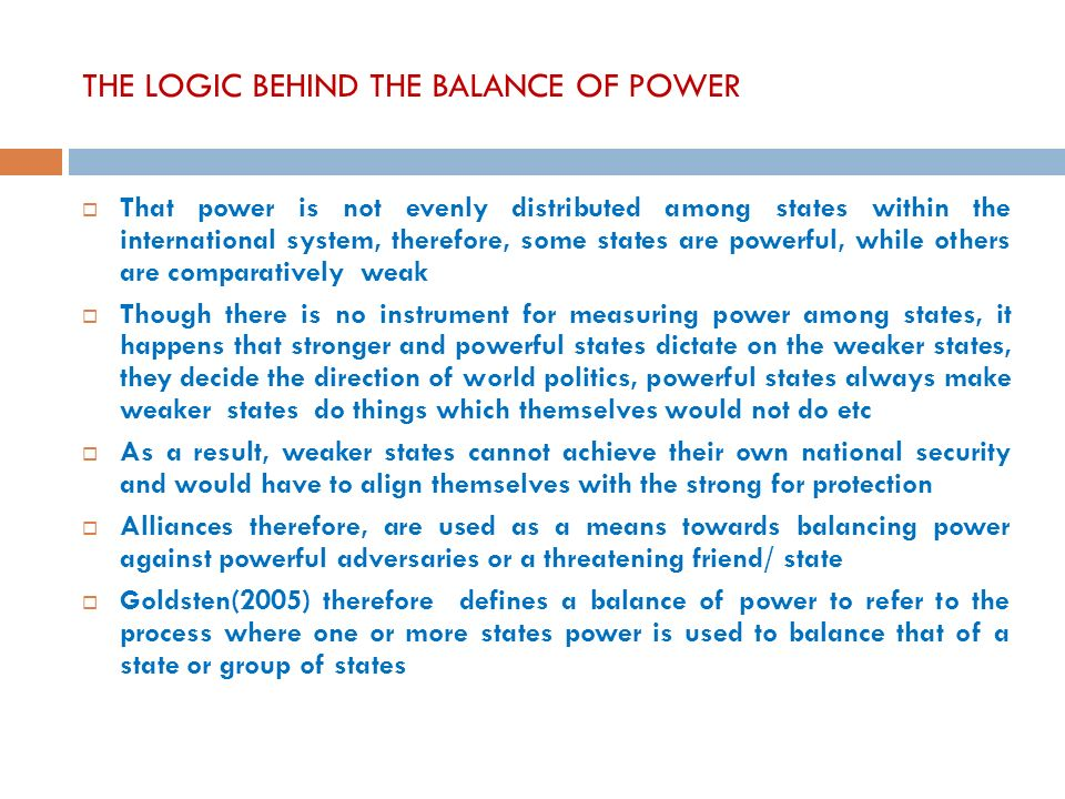 balance of power theory View balance of power theory research papers on academiaedu for free.