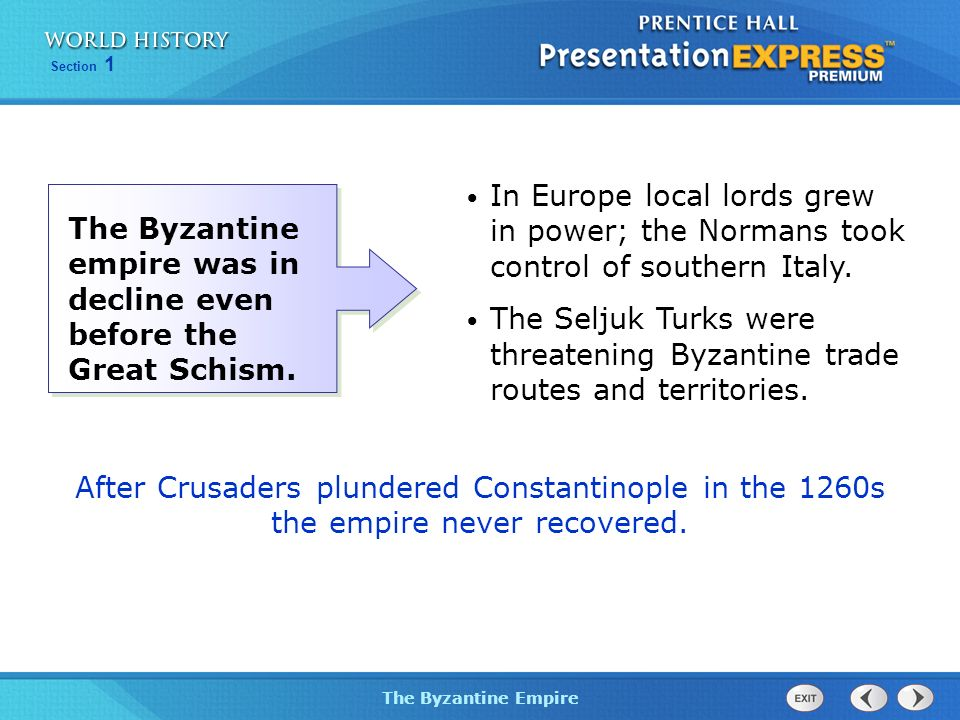 In Europe local lords grew in power; the Normans took control of southern Italy.
