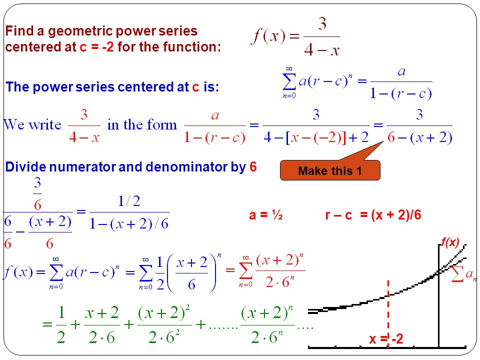 how to add two power series