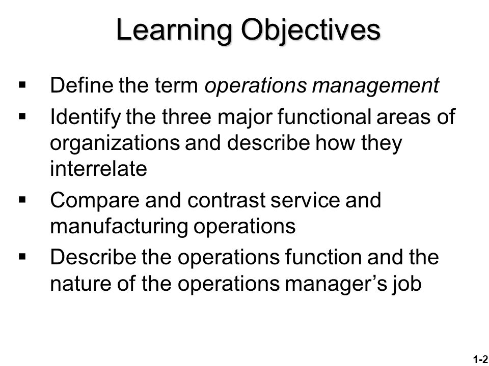 five main objectives of operations management Examples of strategic objectives by erica olsen strategic objectives are one of the fundamental building blocks of your strategic plan for all intensive purpose of.