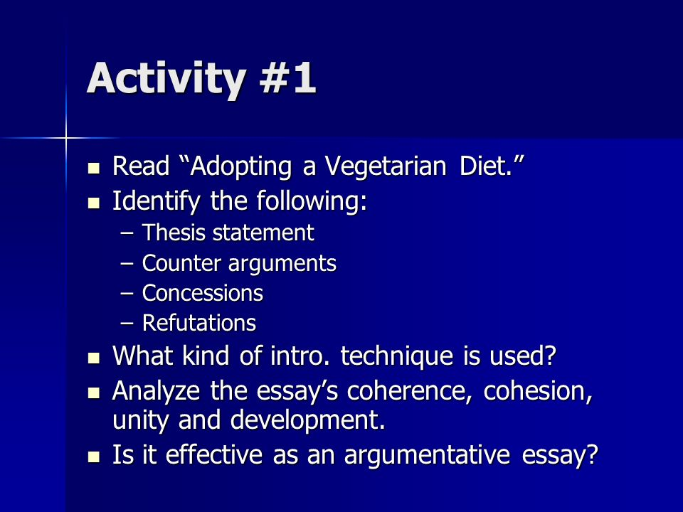 vegetarian argument Review opinions on the online debate vegan diets are healthier.