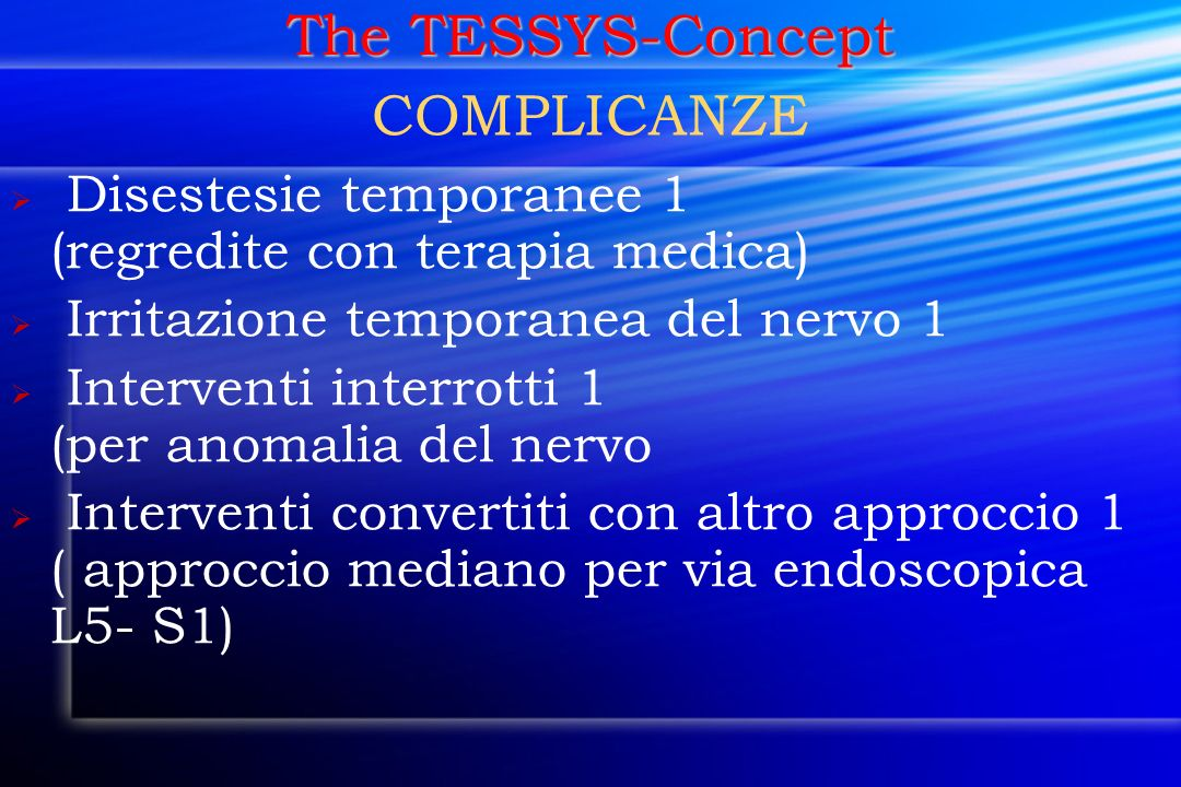 The TESSYS-Concept COMPLICANZE