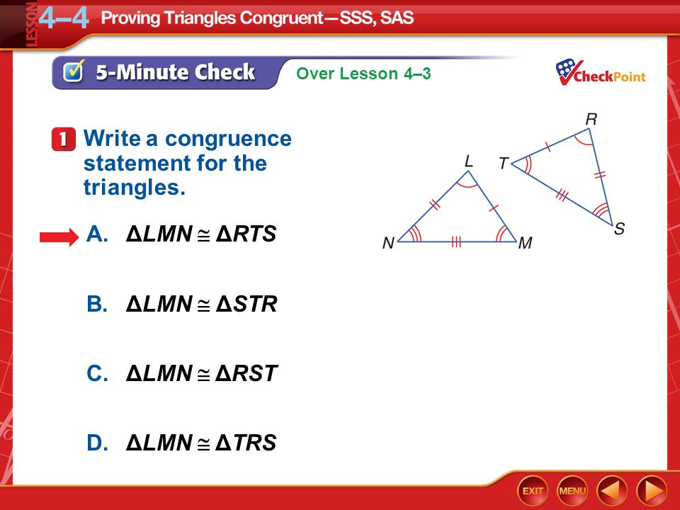 How Is a Congruence Statement Written?
