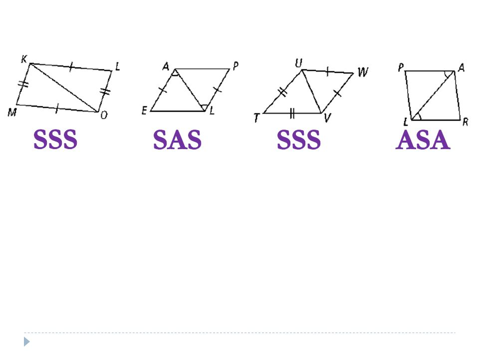 Triangle Congruence 4.2 /4.3 Day 1 SSS, SAS, ASA, AAS. - ppt download