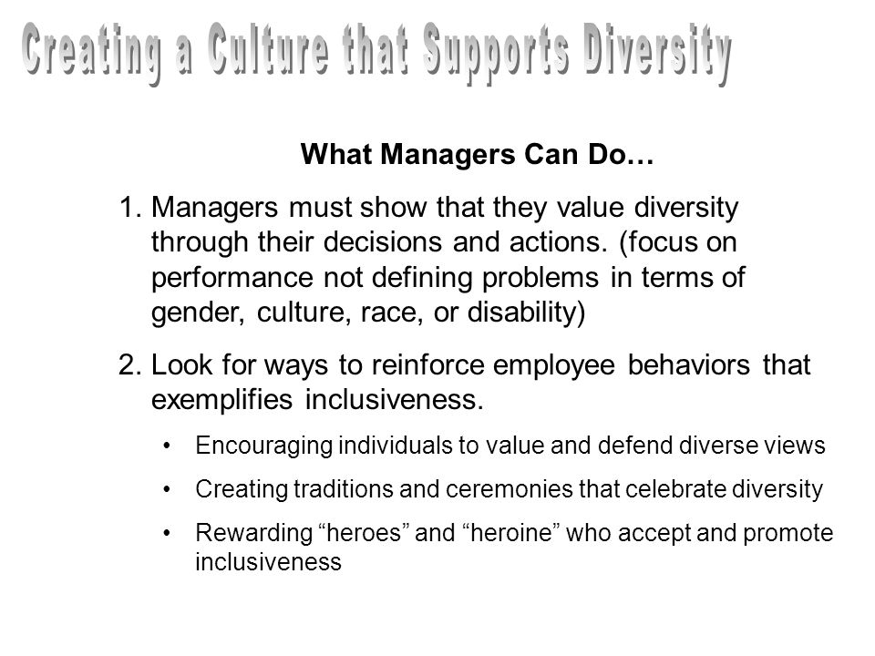 Creating a Culture that Supports Diversity
