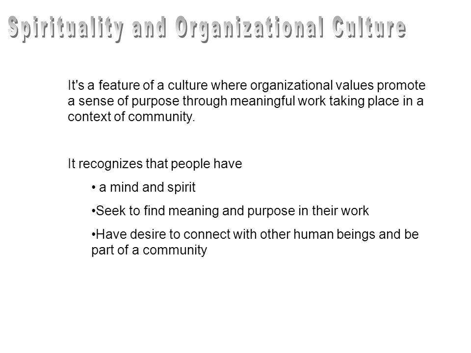 Spirituality and Organizational Culture