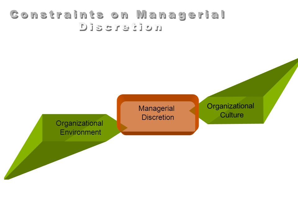 Constraints on Managerial