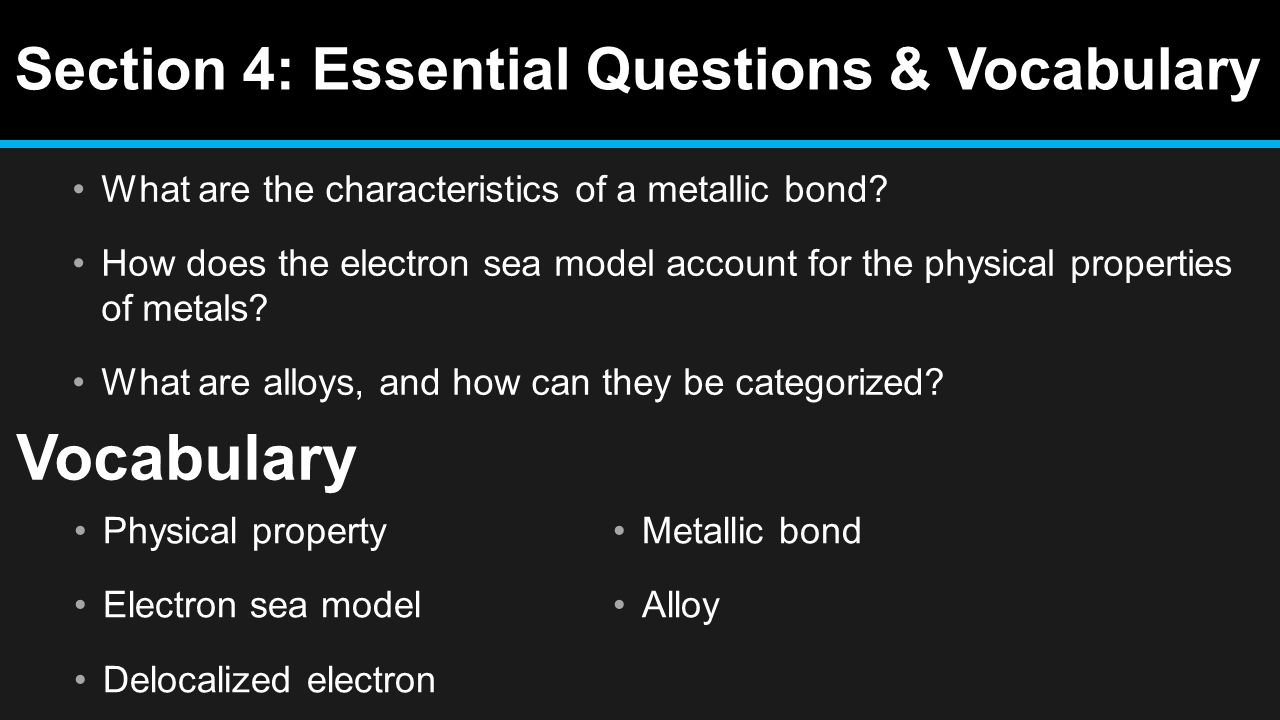 worksheet Teaching Transparency Worksheet Metallic Bonding ionic compounds and metals ppt video online download 56 section