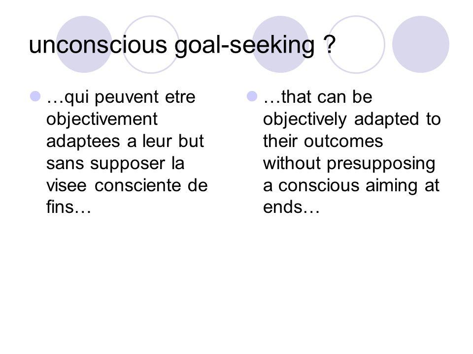 unconscious goal-seeking