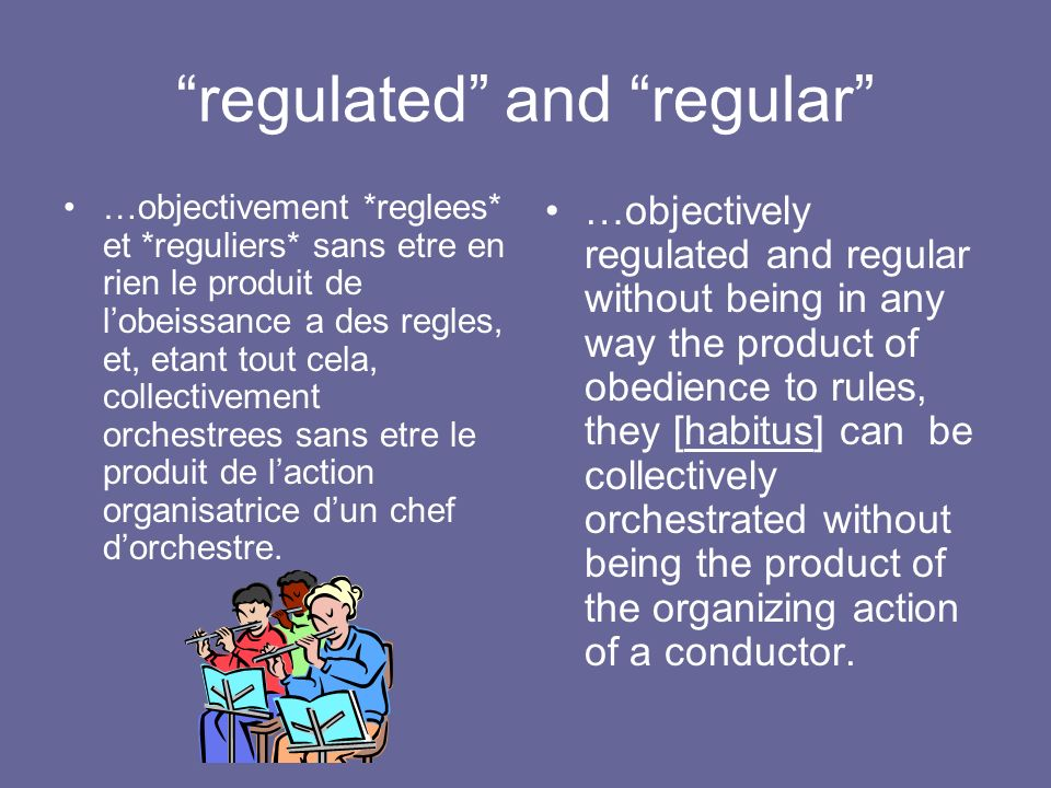 regulated and regular