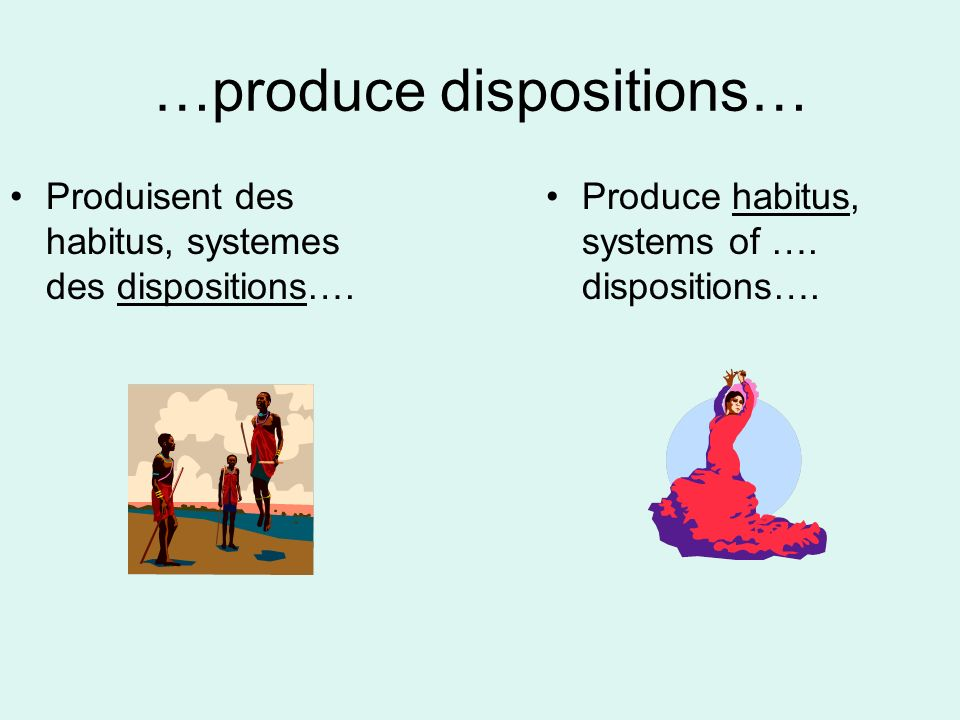…produce dispositions…