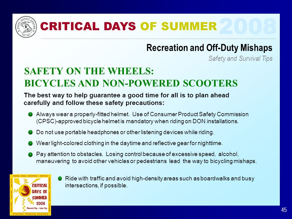 A Message from the Naval Safety Center
