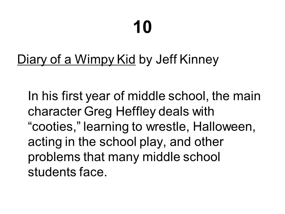 Diary Of A Wimpy Kid Main Characters Description