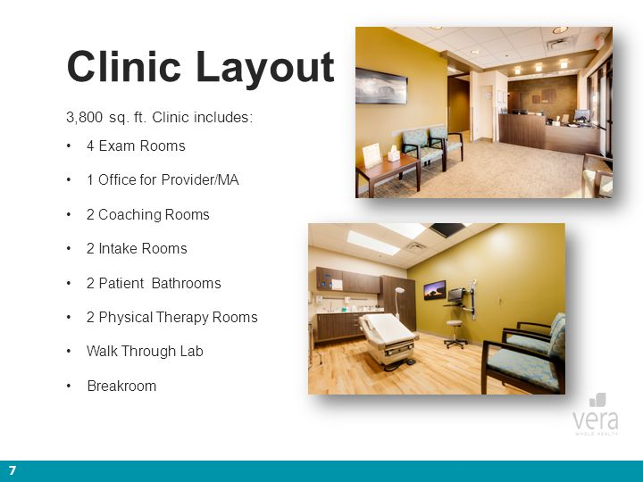 Napebt employer clinic ppt video online download for Physical therapy office layout