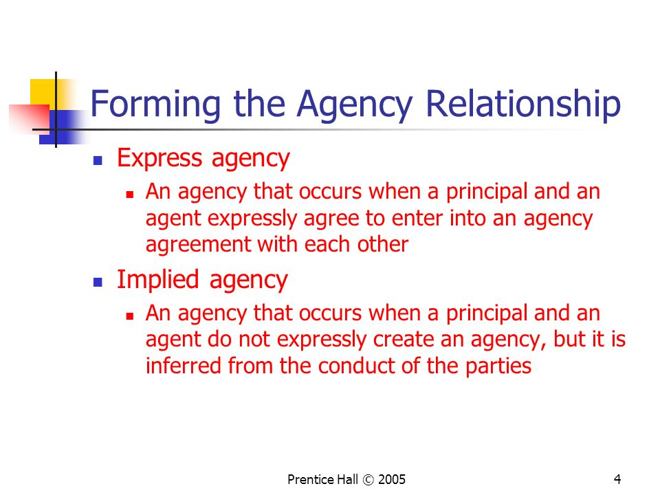 broker agency relationship in a corporation