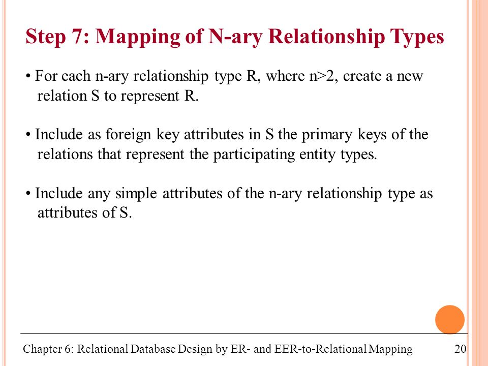 mapping of ary relationship types in a database