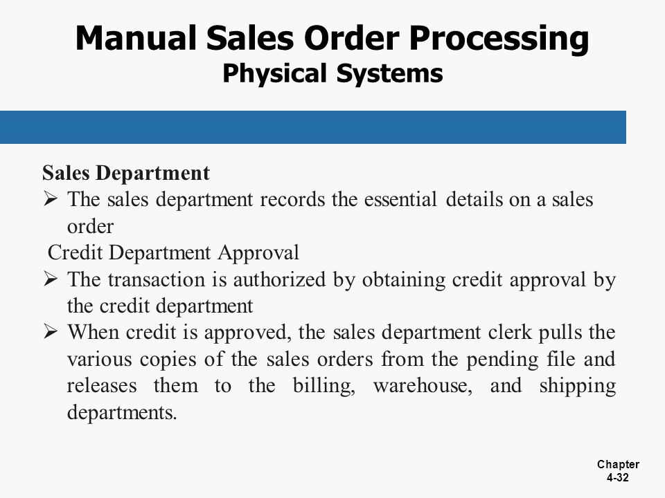 a computerized sales order processing system Sales order processing is the generation of an internal document within a business enterprise that authorizes the consummation of a sales transaction sales order processing occurs after.