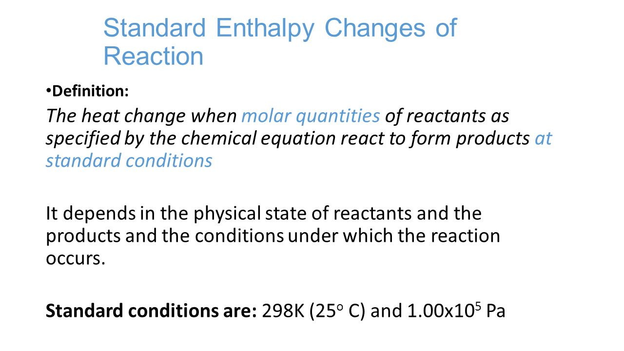 how to find enthalpy change of a reaction