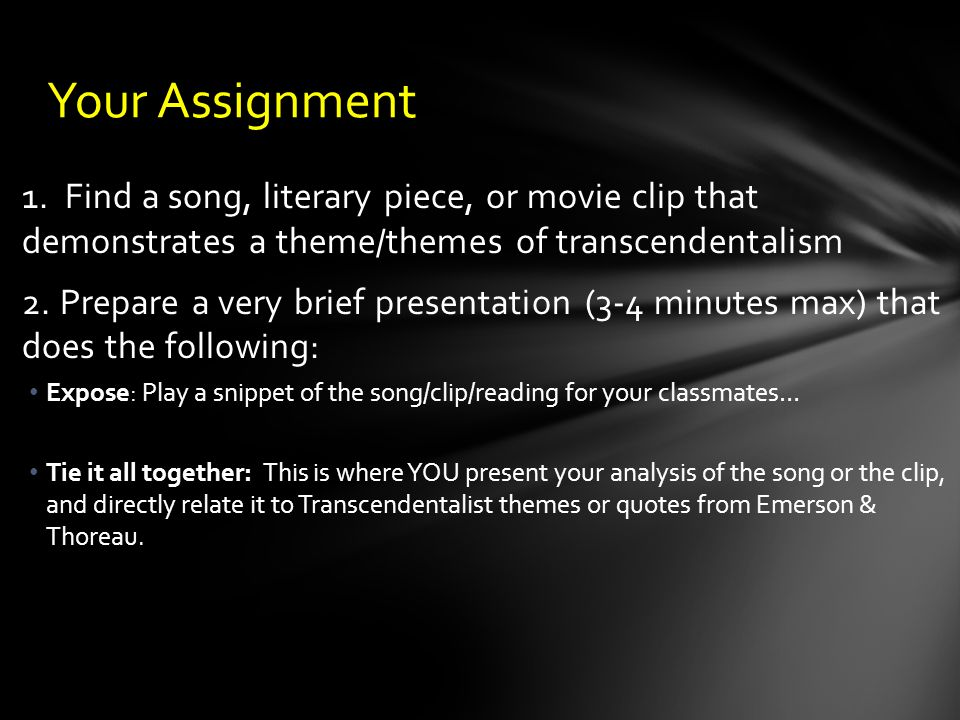 an analysis of the topic of the transcendentalism movement Category: literary analysis, emerson, thoreau, dickinson title: transcendentalism my account transcendentalism transcendentalism essay - although the transcendentalism movement was an extremely long time ago the ideas are still pertinent today.