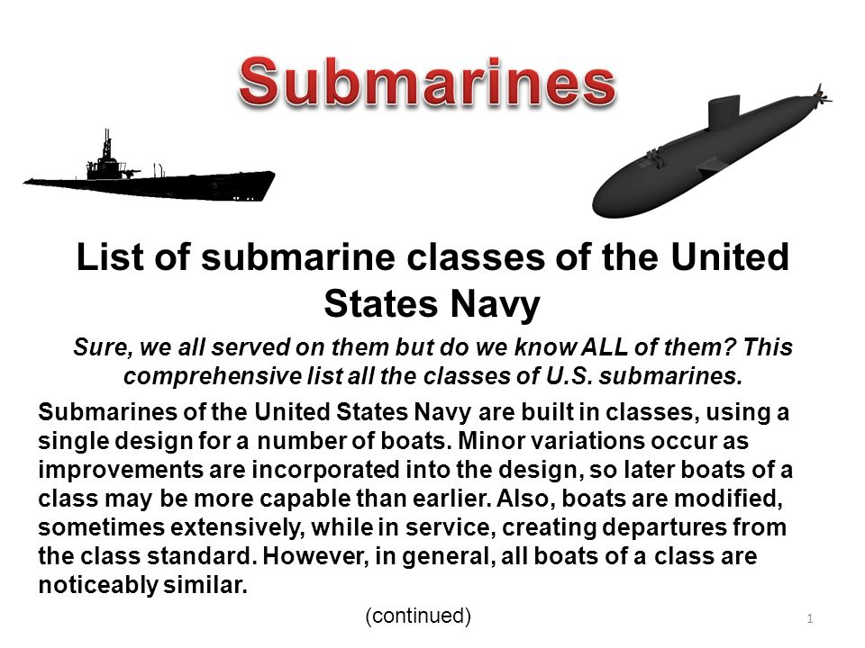 list of submarine classes of the united states navy - ppt download, Presentation templates